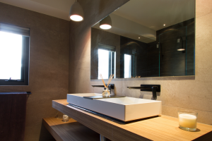 Bathroom Renovations Perth - Renovation Company - VIP Bathrooms - Contemporary Above Counter Double Sink Taps