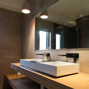 Bathroom Renovations Perth - Renovation Company - VIP Bathrooms - Contemporary Above Counter Double Sink