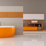 Small Bathroom Renovation Ideas Inspirations Perth VIP Bathrooms Contemporary Orange Brown Design